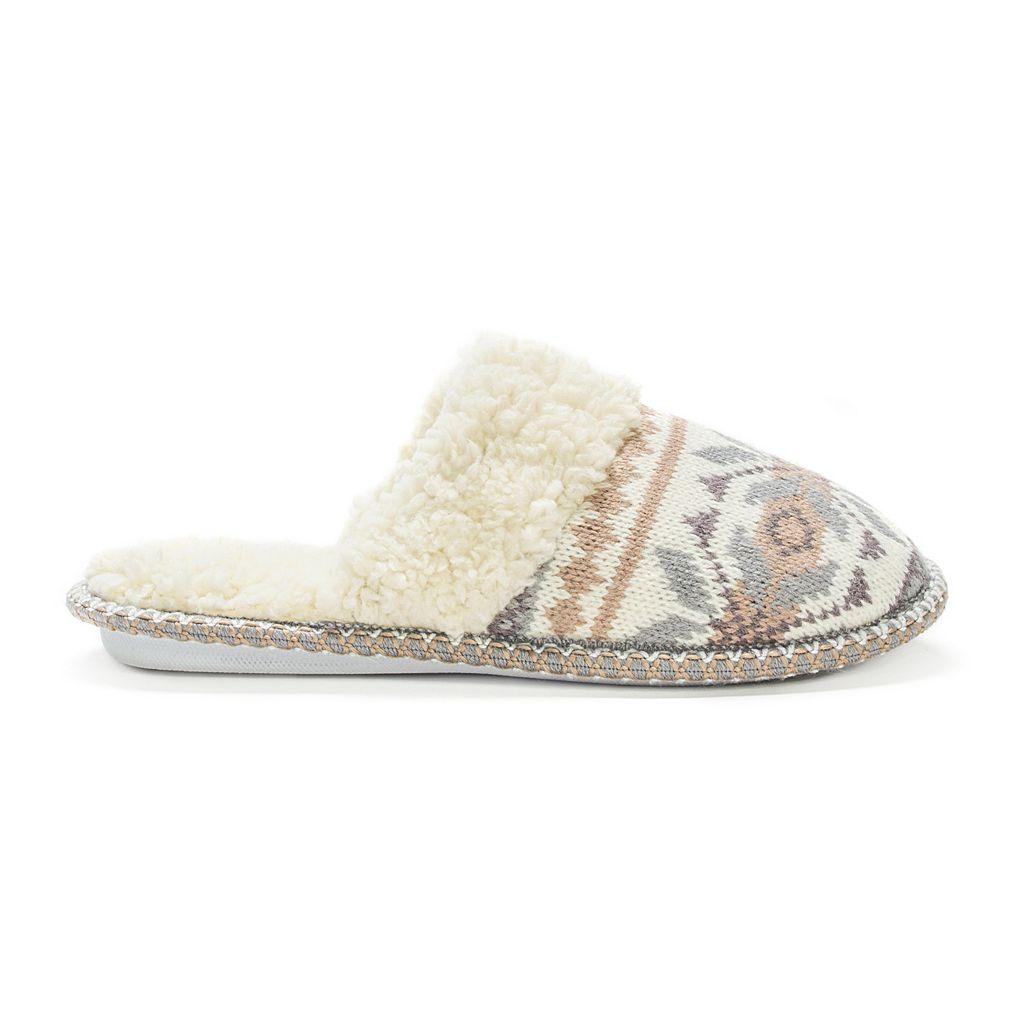 MUK LUKS Women's Knit Scuff Slippers