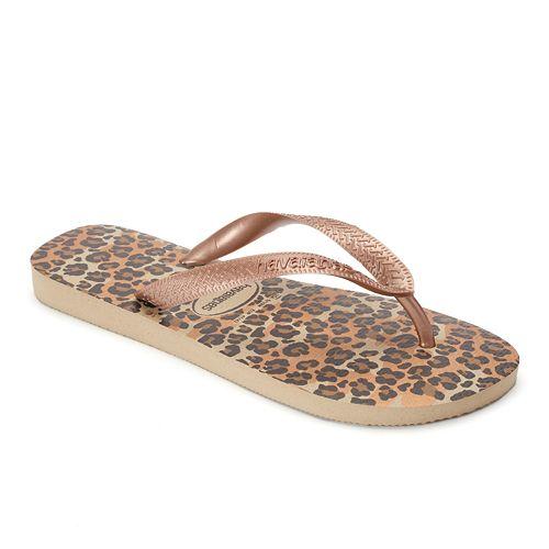 8d721cf544d5 havaianas Women s Leopard Metallic Thong Flip-Flops