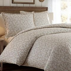 Laura Ashley Lifestyles Victoria 300-Thread Count Sateen Duvet Cover Set