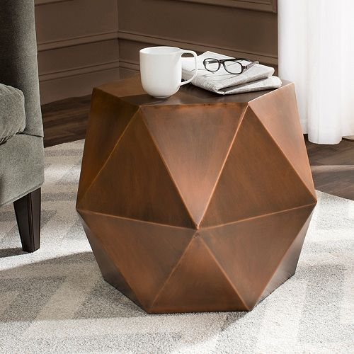 Safavieh Astrid Faceted Side Table