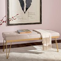 Safavieh Gold Marcella Bench