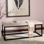Safavieh Beige Reynolds Bench