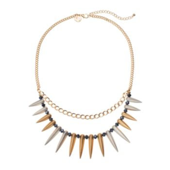 GS by gemma simone Black Swan Collection Bead & Spike Swag Necklace