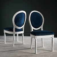 Safavieh Holloway Velvet Oval Side Chair 2-Piece Set