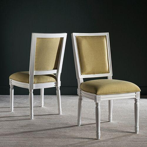 Safavieh Buchanon Upholstered Rectangular Side Chair 2-Piece Set