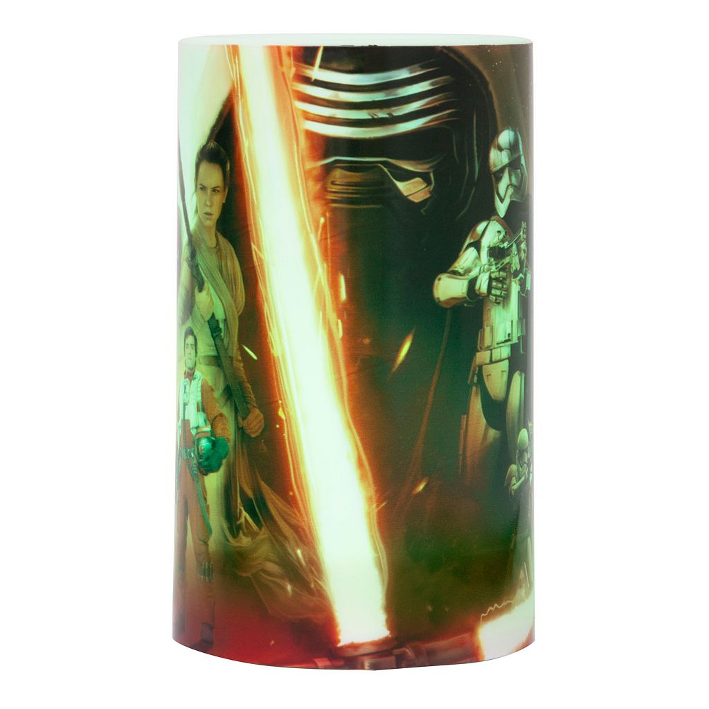 Star Wars Episode VII: The Force Awakens Color-Changing LED Flameless Pillar Candle