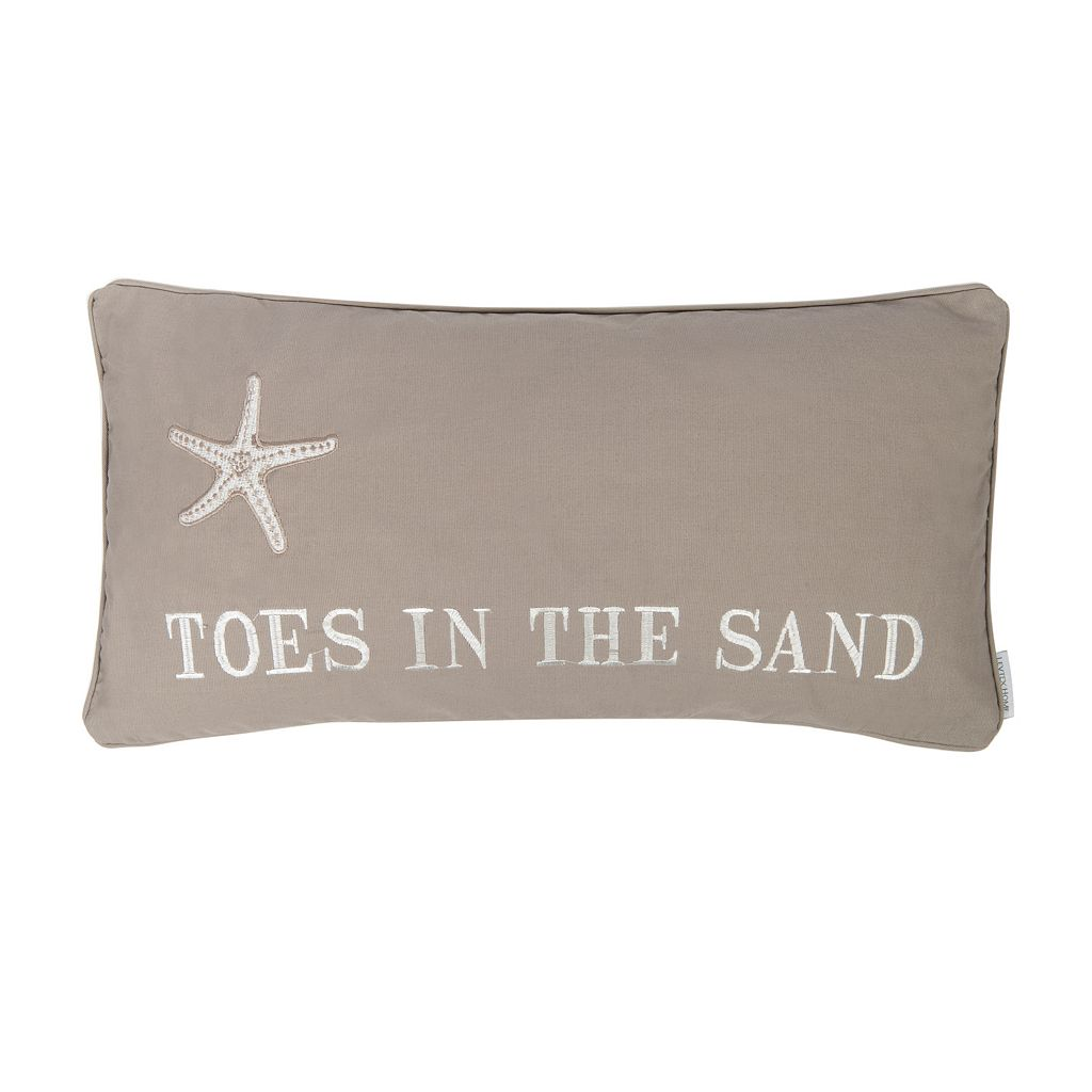 Galapagos ''Toes in the Sand'' Throw Pillow