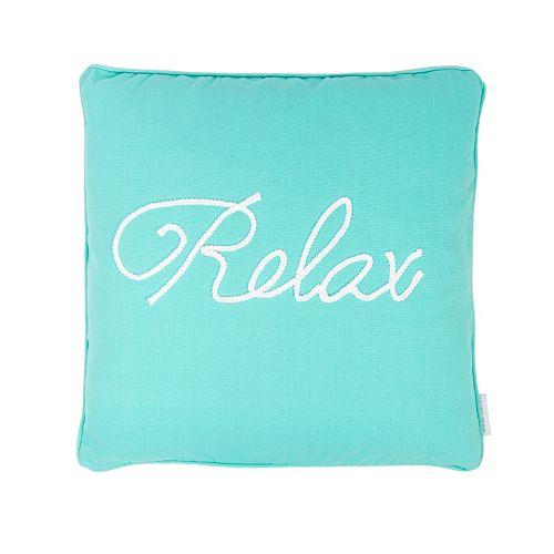 Cozumel ''Relax'' Throw Pillow