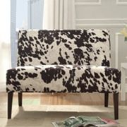 HomeVance Harris Cowhide Print Settee Chair