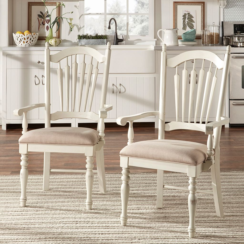 HomeVance 2-piece Cottage Row Arm Dining Chair Set