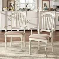HomeVance 2 pc Cottage Row Arm Dining Chair Set