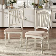 HomeVance 2 pc Cottage Row Dining Chair Set