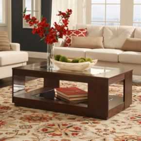 HomeVance Myrna Glass Coffee Table