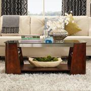 HomeVance Ellington Glass Coffee Table