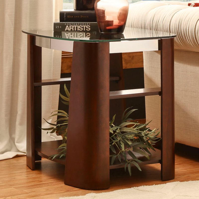 HomeVance Ellington Glass End Table, Other Clrs