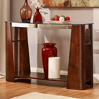HomeVance Ellington Glass Sofa Table