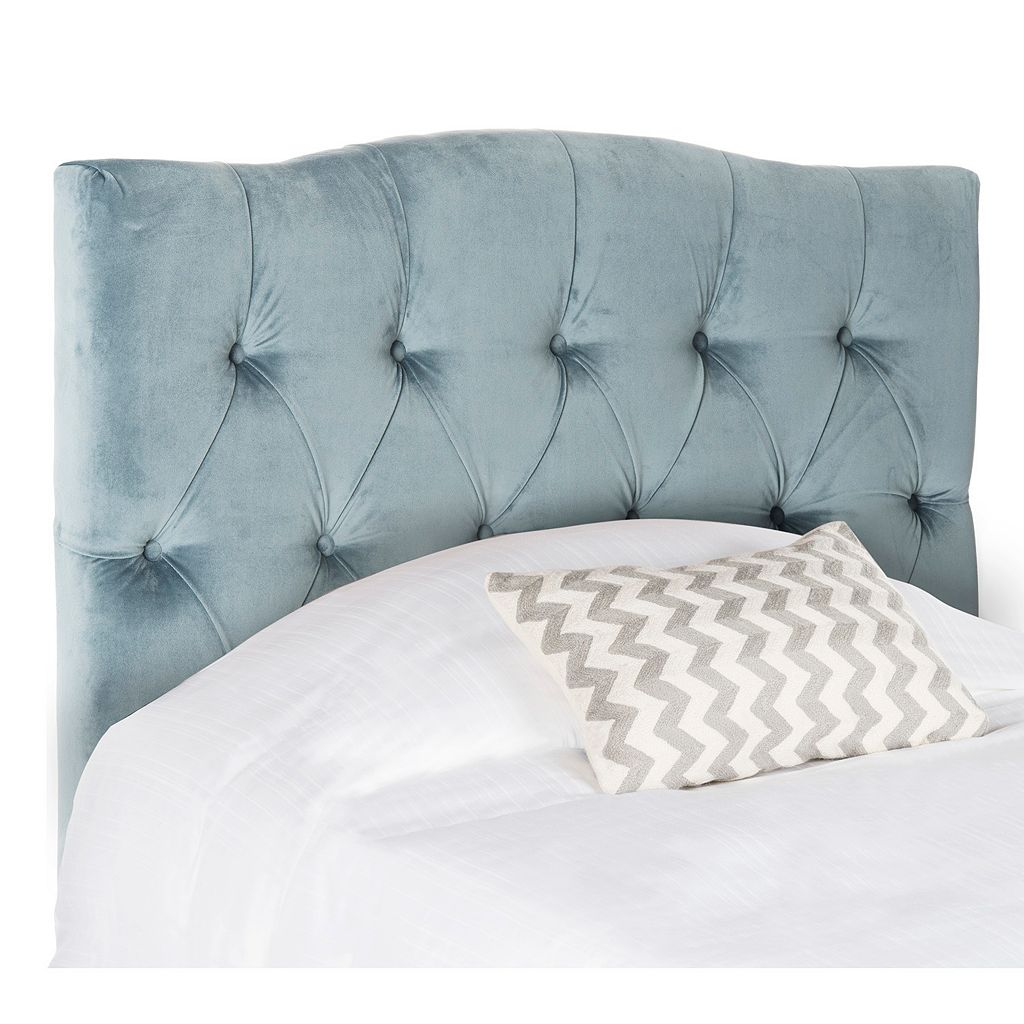 Safavieh Axel Wedgewood Blue Tufted Headboard