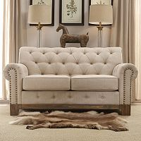 HomeVance Townsend Button Tufted Loveseat