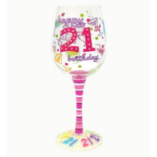 "Top Shelf ""Happy 21st Birthday"" 15-oz. Wine Glass"