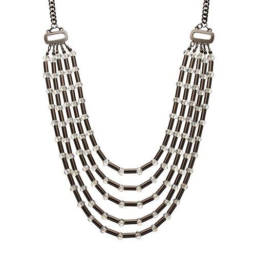 GS by gemma simone Parisian Treasures Collection Bead Long Swag Necklace