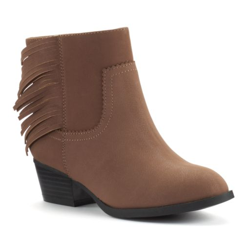 Unionbay Juniper Girls' Fringe Ankle Booties
