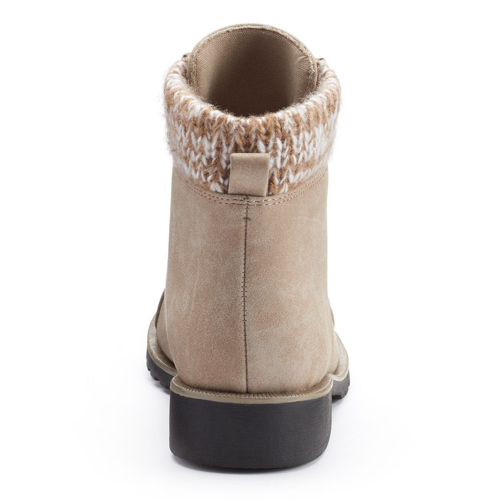 Unionbay Edith Girls' Sweater-Knit Lace-Up Booties