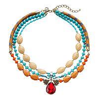 GS by gemma simone Sedona Sunset Collection Bead Multirow Necklace
