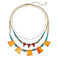 GS by gemma simone Sedona Sunset Collection Bead Multistrand Necklace