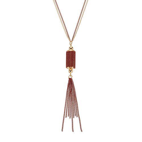 GS by gemma simone Sedona Sunset Collection Tassel Long Pendant Necklace