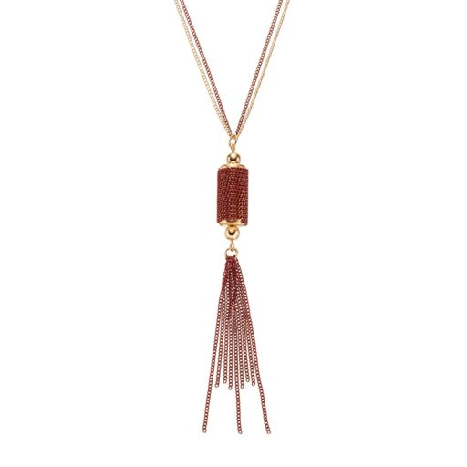 GS by gemma simone Sedona Sunset Collection Tassel Long Pendant Necklace