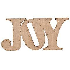Home Essentials & Beyond ''Joy'' Burlap Script Wall Decor