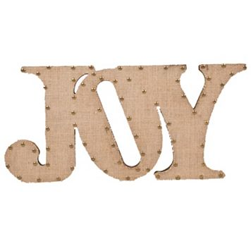 Home Essentials & Beyond ''Joy'' Burlap Script Wall Decor