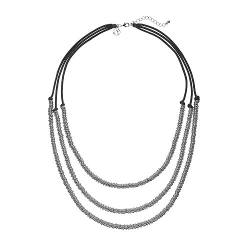 GS by gemma simone Molten Metals Multistrand Necklace