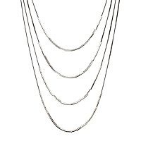 GS by gemma simone Molten Metals Collection Bead Long Multistrand Necklace