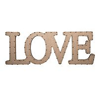 Home Essentials & Beyond ''Love'' Burlap Script Wall Decor