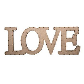 Home Essentials & Beyond ''Love'' Burlap Script Wall Decor