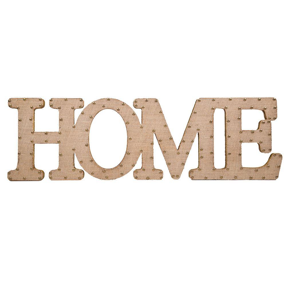 Home Essentials & Beyond ''Home'' Burlap Script Wall Decor