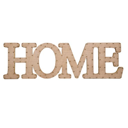 Home Essentials & Beyond ''Home'' Burlap Script Wall Decor
