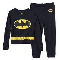 Boys DC Comics Batman Uniform 2-Piece Pajama Set