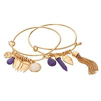 GS by gemma simone Earth Goddess Collection Bead & Charm Bangle Bracelet Set
