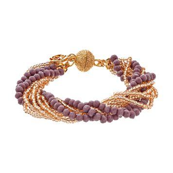 GS by gemma simone Earth Goddess Collection Bead Multistrand Bracelet