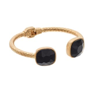 GS by gemma simone Black Swan Collection Textured Cuff Bracelet