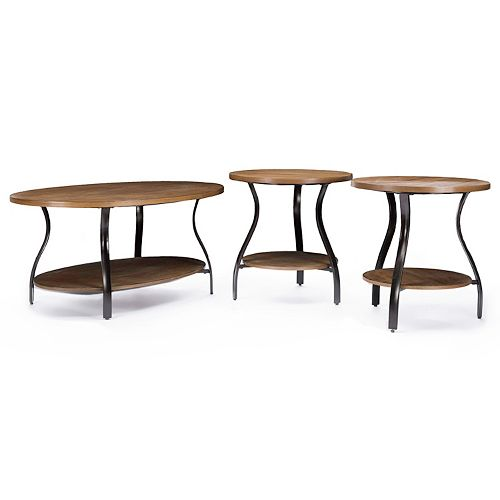 Baxton Studio Newcastle 3-Piece Table Set