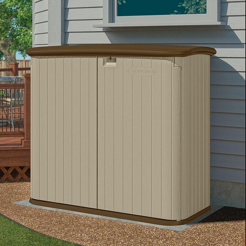 Suncast Horizontal Outdoor Storage Shed, Beige/Khaki