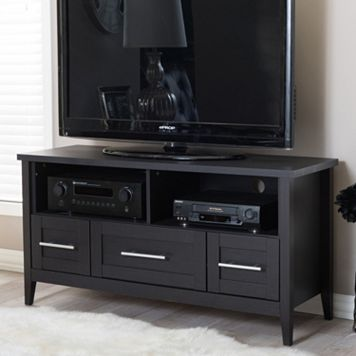 Baxton Studio Espresso 3-Drawer TV Stand
