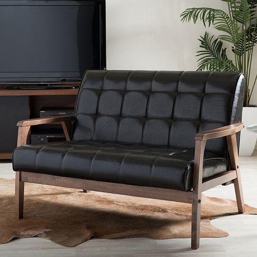 Baxton Studio Mid-Century Masterpieces Loveseat Sofa