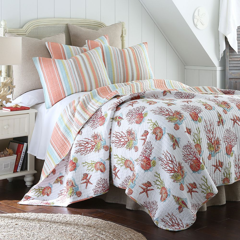 Coral Reversible Quilt Set : coral quilt - Adamdwight.com