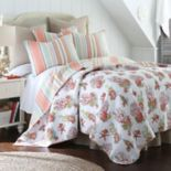 Brighton Coral Reversible Quilt Set