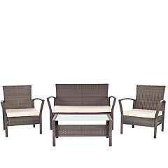 Safavieh Avaron 4 pc Outdoor Furniture Set