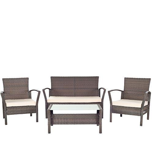 Safavieh Avaron 4 Piece Outdoor Furniture Set